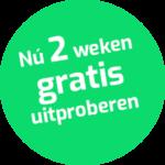 2 weken gratis uitproberen sticker